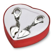 Schlüsselanhänger Broken Heart - glänzend - incl. einseitger Lasergravur